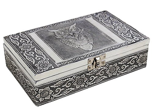 antique-style-keepsake-trinket-jewellery-storage-box-hand-carved-wood-with-owl-embossed-metal-finish