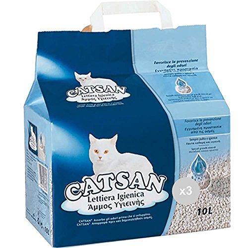 Catsan Set mit 3 Katzen lt 10 Hygiene Pflege von Haustieren, Mehrfarbig, 3 Stück