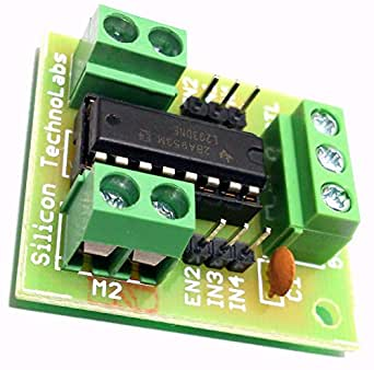 Silicon Technolabs L293D Ic Based Dc Motor Stepper Motor Driver Board Module For Raspberry Pi Arm Arduino Avr Pic 8051