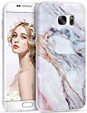 Galaxy S7 Edge Case, ImikokoTM S7 Edge Marble Case Slim