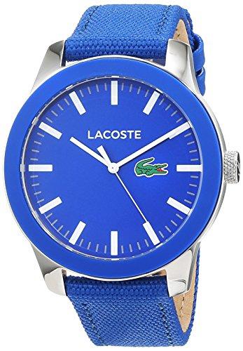 ce97845253f6 Lacoste Reloj Análogo clásico para Hombre de Cuarzo con Correa en Tela  2010921 de Lacoste