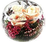 Rosen-te-amo Muttertags Geschenk Konservierte-Rosen - Blumen-Gesteck aus drei Konservierte Blumen enthält drei ECHTE PREMIUM rosa stabilisierte Blumen – unser EXKLUSIVES Blumen-Arrangement wird handgemacht und mit Liebe gefertigt