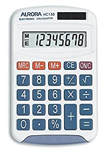 Aurora HC133 Handheld Calculator (Ideal for Primary School Use)-White from Aurora