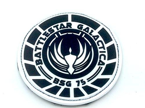 Battlestar Galactica Abzeichen (Battlestar Galactica BSG 75 Officer PVC Klett Emblem Abzeichen)