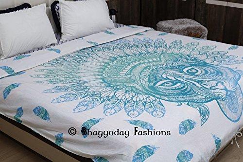 indischen wendbar afrikanischen Tiger Mandala Queen Bettwäsche Set Quilt Doona Bezug Hippie Decke Bettwäsche Urban Decor