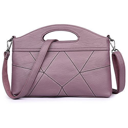Meoaeo 2017 Reine Farbe Stitching Dame Handtasche Mode Single Schulter Tasche Grün Pink