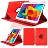 Case pour Samsung GALAXY Tab 4 10.1 Inch SM-T530 T531 T533 T535 Smart Cover Slim Sacoche Stand Flip Screen Protector (Rouge) NEUF