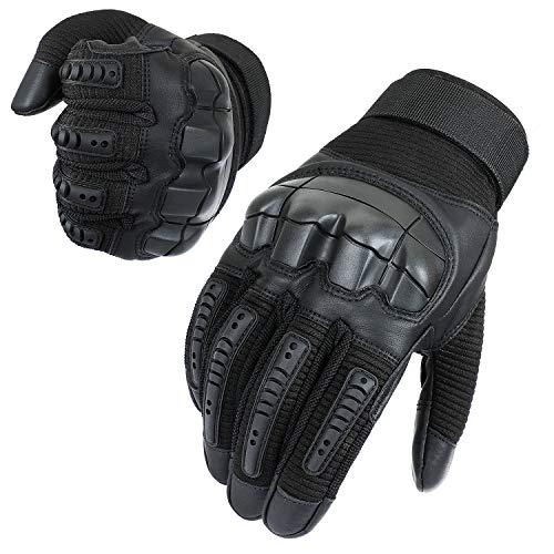 Neusky Herren Taktische Handschuhe Touchscreen Fahrrad Handschuhe Motorradhandschuhe MTB Handschuhe Mountainbike Handschuhe Outdoor Sport Handschuhe Ideal für Airsoft,Militär,Paintball,Jagd(S,Schwarz)