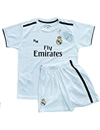 Real Madrid FC Kit Infantil Replica Primera Equipación 2018/2019 (4 ...