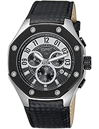 Esprit Collection Herren-Armbanduhr Kronos Chronograph Quarz Leder EL101291F01