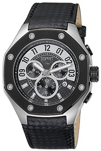 Esprit Collection para hombre-reloj cronógrafo de cuarzo crono piel EL101291F01