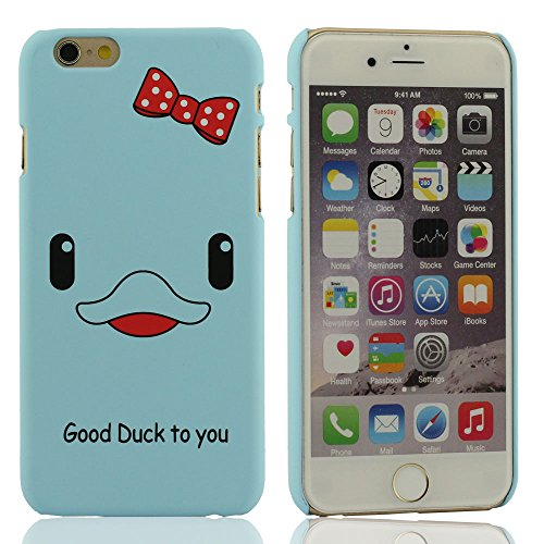 Super Maigre Coque Case pour iPhone 6 6S (4.7 Pouce), iPhone 6S Case, iPhone 6S Coque , iPhone 6S Housse de Protection (iPhone 6 Plus 5.5 pouces comprend pas), Mat Poignée Sentiment, [Good Duck To You Bleu