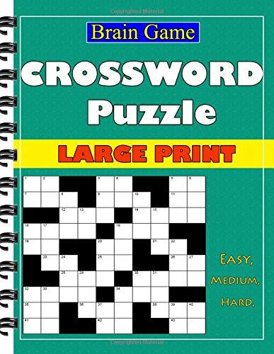 Crossword Puzzle  Large Print: Easy, Medium, Hard  Puzzle Book por Jeena one