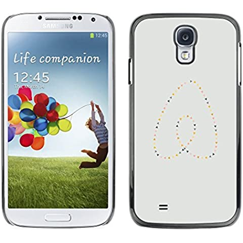 GooooStore/Dura Custodia Rigida della copertura della cassa - Heart Pearls Gold Blue Minimalist - Samsung Galaxy S4 I9500 - Blue Pearl Gt