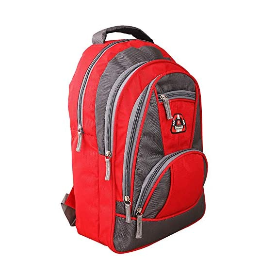 Shaina Bags 15.6 Inches Laptop College Bags| Casual Backpack| School Bag- (Red)