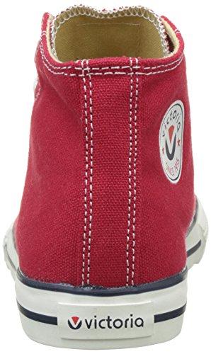Victoria Botin Autoclave, Baskets Hautes Mixte Enfant Rouge (Rojo)