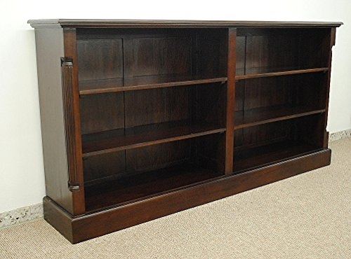 Warehouse Living Wunderschönes Buchregal Bücherschrank Bücherregal Regal aus Massiv Mahagoni