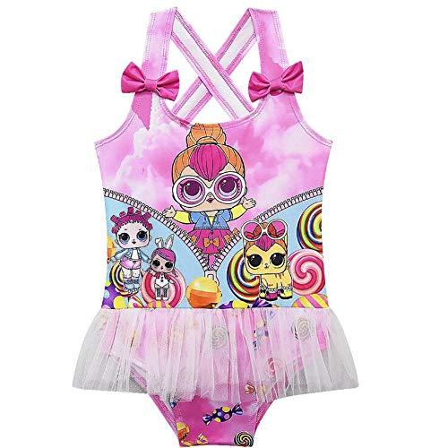 C&NN LOL Surprise Baby Girls Traje de baño sin Mangas Traje de baño de una Pieza, Baño de natación...