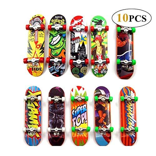 Reastar Finger Skateboard 10pcs Professionelle Mini Fingerboards Skatepark Spielzeug für Kinder Spielen Oder ALS Finger Skateboard Dekoration (Mini Spielzeug Skateboard)