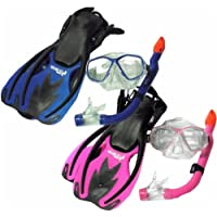 TBF Combo 3 Piece KIDS Set - Mask + Fins + Snorkel Set - Two Bare Feet