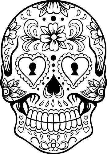 Ruixinshi Kreativer Halloween-erschreckender riesiger Skeleton Kopf PVC-Aufkleber Kinderzimmer Schlafzimmer Wohnzimmer Fenster-Wand-Dekoration, wasserdichtes Wandbild kann entfernt Werden