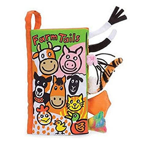Rcool Baby Kid Cute Animal Tails Cloth Book Toy Puzzle Wisdom Development Educational Book Toy Child Gift (D)