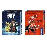 KOSMOS 2er Set 740339 740382 The Walking Pet + Kartenspiel Halt mal kurz