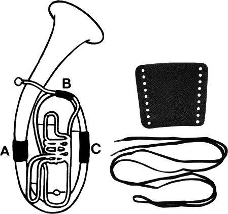 aS Arnolds & Sons Handschutz für Bariton A - aus echtem Leder