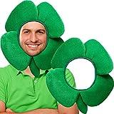 2 Pack St. Patrick's Day Hut Irish Grün Shamrock Klee Hut, Erwachsene Phantasie Klee Grünen Hut für Männer und Damen