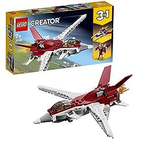 LEGO Creator - Reactor Futurista, Juguete 3 en 1 de Construcción de Avión y Naves Espaciales para Niños y Niñas a Partir de 7 Años con Diferentes Piezas (31086)