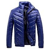 BaZhaHei Herren Mantel Männer Winter Freizeit Reißverschluss Tasche Daunenjacken Stehkragen Tops Mantel Sweatjacke Draussen Wärmejacke Jackenständer Zipper Warm Gesteppt Outwear Mantel