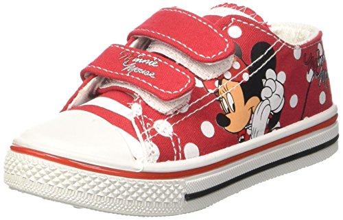 Minnie Canvas Low, Sneaker a Collo Basso Bambina Rosso