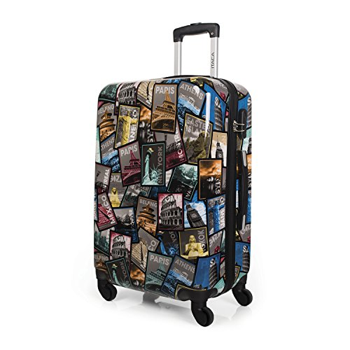 Trolley con fotos ciudades - Negro