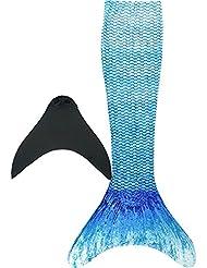 Meerjungfrauenschwanz mit Meerjungfrau Flosse für Kinderschwimmen Schwimm Cosplay Mädchen Badeanzuge Meerjungfrau-Schwanz