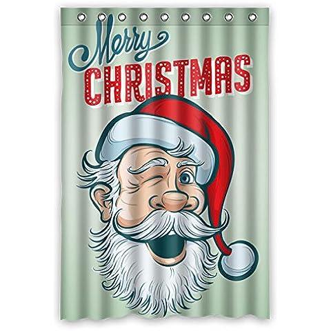 Verde sfondo Buon Natale modello disegno poliestere tessuti impermeabile Tende da doccia 48