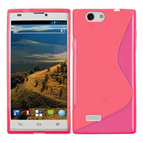 kwmobile Hülle TPU Silikon Case für ZTE Blade L2 mit S-Line Design - Handy Cover Schutzhülle in Pink Transparent