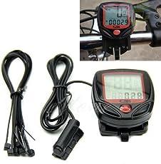 SHOPEE Branded 15 Function Bicycle Computer Odometer Speedometer Digital LCD Bike Meter Waterproof