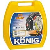 König 03065 Paire de chaînes à neige pour voiture T2 Magic 065 10 mm