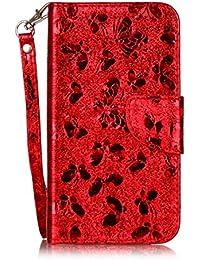 Nancen LG K10 (5,3 pouces) coque Haute Qualité PU Cuir Flip Étui Coque de Protection Wallet / Portefeuille Case Cover Housse - Avec Carte de Crédit Fente, Fermeture Magnétique, Protection complète pour votre téléphone, LG K10 (5,3 pouces)