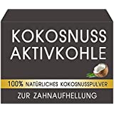 Natürliche Premium Kokosnuss Aktivkohle zur Zahnaufhellung Zahnbleaching 100% REIN ohne schädliche Zusatzstoffe - verbesserte Wirkung