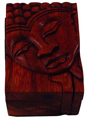 Guru-Shop Jigsaw, Boîte à Bijoux Bouddha 2, Bois, 5x10x6,5 cm, Stockage