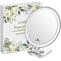 LAVANY Espejo Compacto, Espejo de Maquillaje de Doble Cara, Espejo Compacto con Magnificación 10x, Perfecto para Viajes (4.2