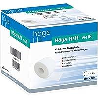 Höga Haft kohäsive selbsthaftende elastische Fixierbinde, 8 cm x 20 m gedehnt, weiß, 1 Stück preisvergleich bei billige-tabletten.eu