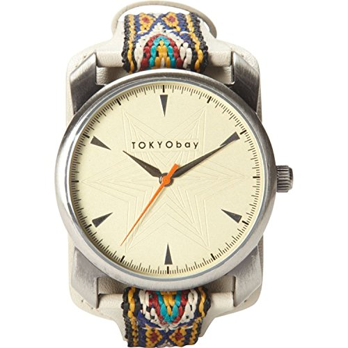 tokyobay-t020-be-frauen-bunte-lederband-beige-dial-anatoli-analog-watch