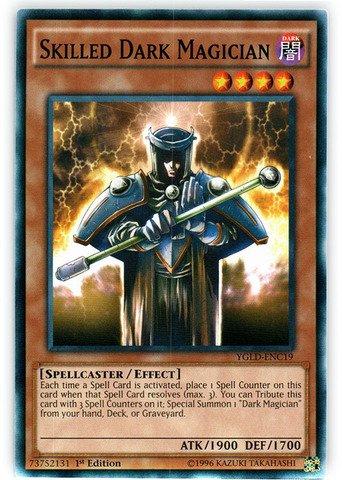 Yu-Gi-Oh.-aufwendig Dark Magician (ygld-enc19)-Karten legendären Decks-1. Edition-gebräuchlicher von Yu-Gi-Oh. - Magician Dark Yu-gi-oh-karte