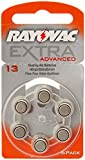 Rayovac Extra Advanced Hearing Aid Battery Type 13 Pack of 6