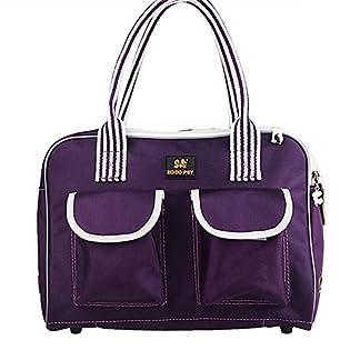 B-JOY Dog Box Car Dog Transport Box Transport Bag Handbag S M L Pet Dog Dog and Cat Airline Approved (L(45*18*30cm… 13