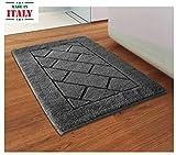 CASA TESSILE Tappeto da Bagno Antiscivolo Megane - Grigio Scuro, 60x120 cm.