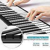SEXTT Roll Up Piano Faltbare 88 Tasten Silikon Tragbares Klavier Digitales Musikinstrument...