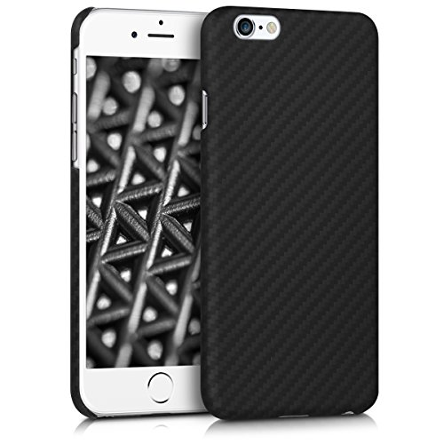 kalibri-Hlle-fr-Apple-iPhone-6-6S-Handy-Schutzhlle-kugelsicheres-Backcover-Aramid-Cover-Schwarz